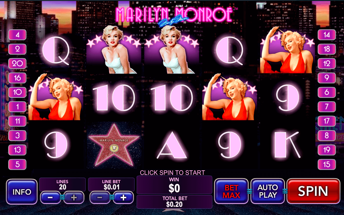 marilyn monroe playtech casino slot spel