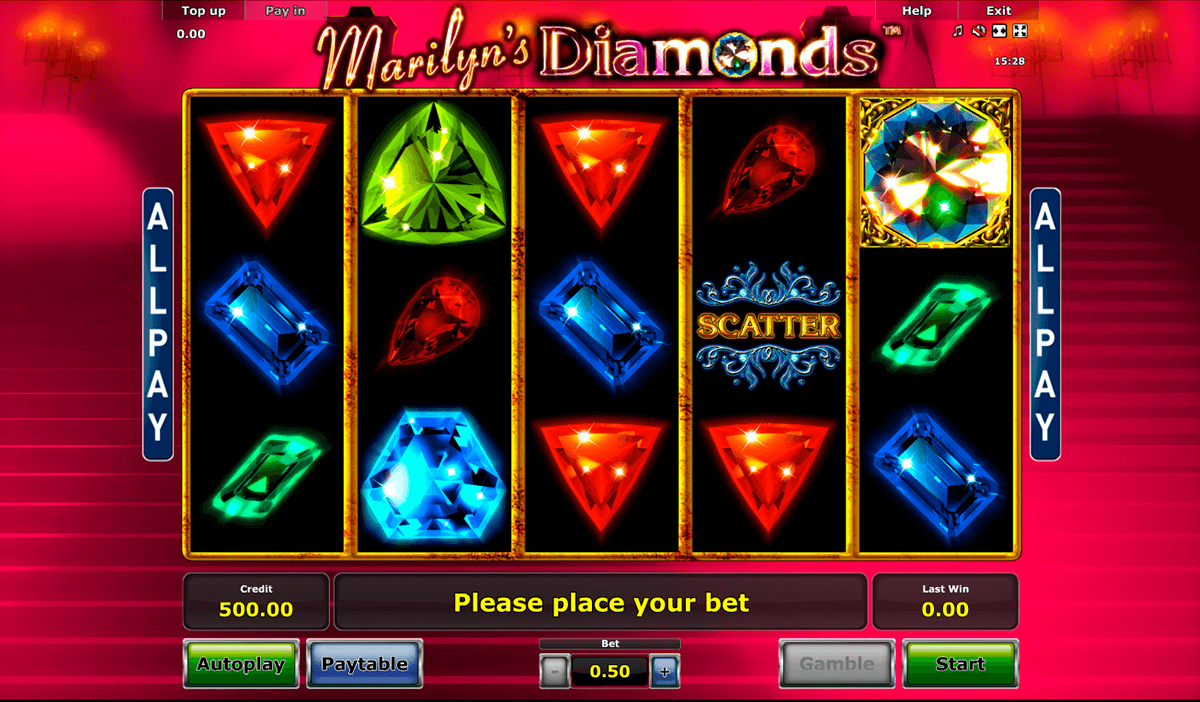 marilyns diamonds novomatic casino slot spel
