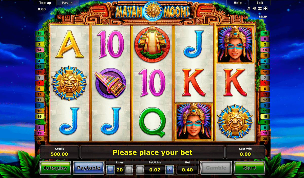 mayan moons novomatic casino slot spel