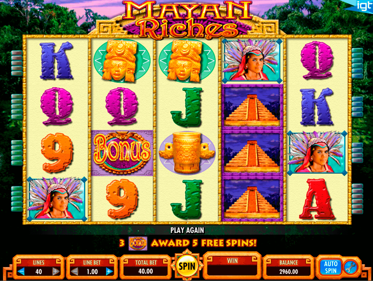 mayan riches igt casino slot spel