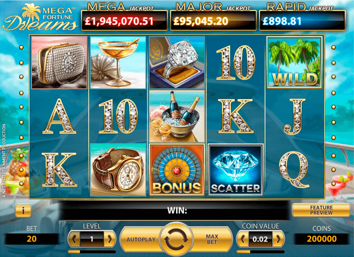 mega fortune dreams netent casino slot spel