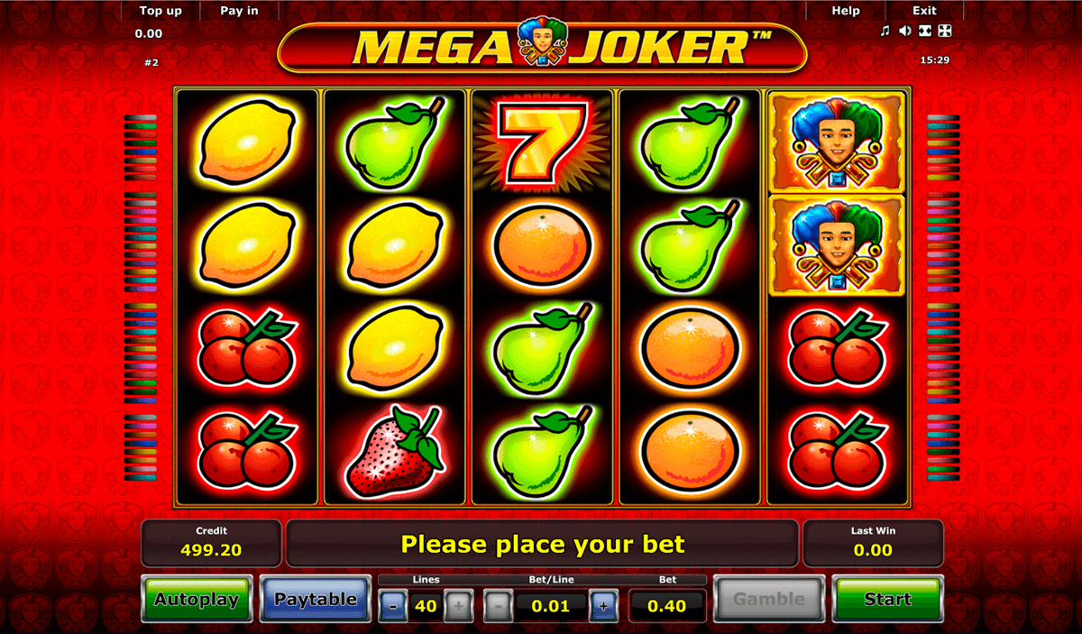 mega joker novomatic casino slot spel