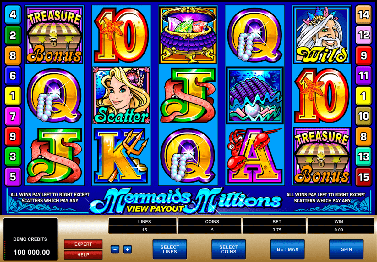 mermaids millions microgaming casino slot spel
