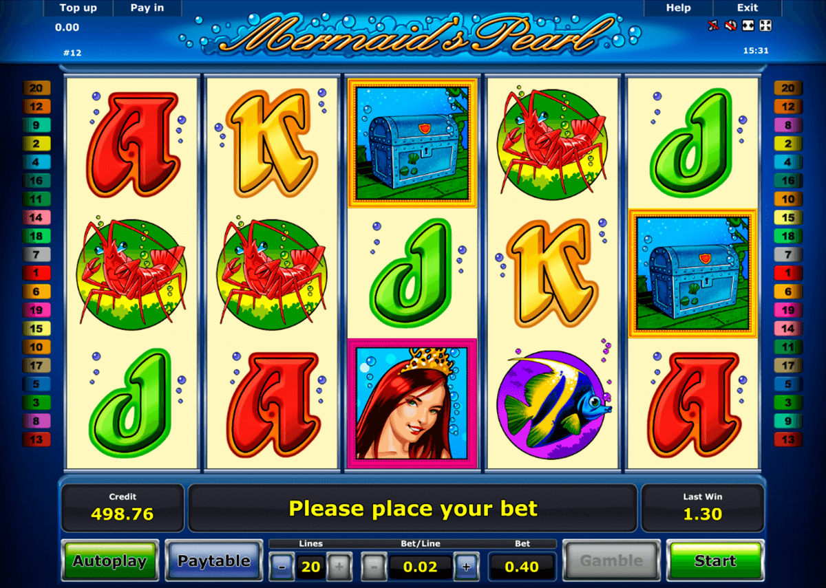 mermaids pearl novomatic casino slot spel