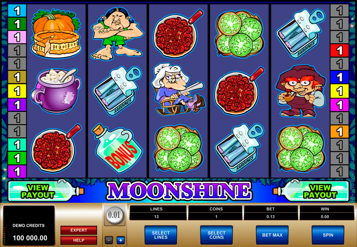 moonshine microgaming casino slot spel