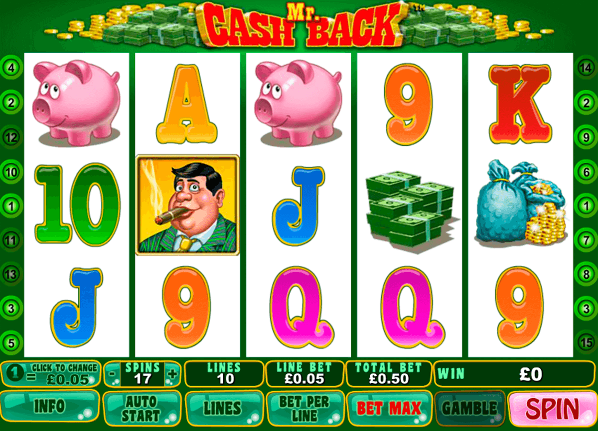 mr cashback playtech casino slot spel