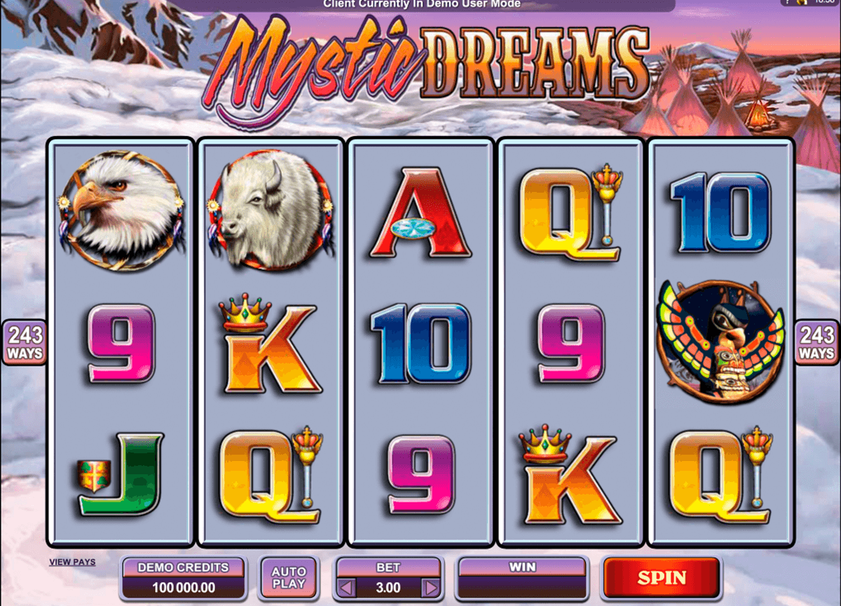 mystic dreams microgaming casino slot spel