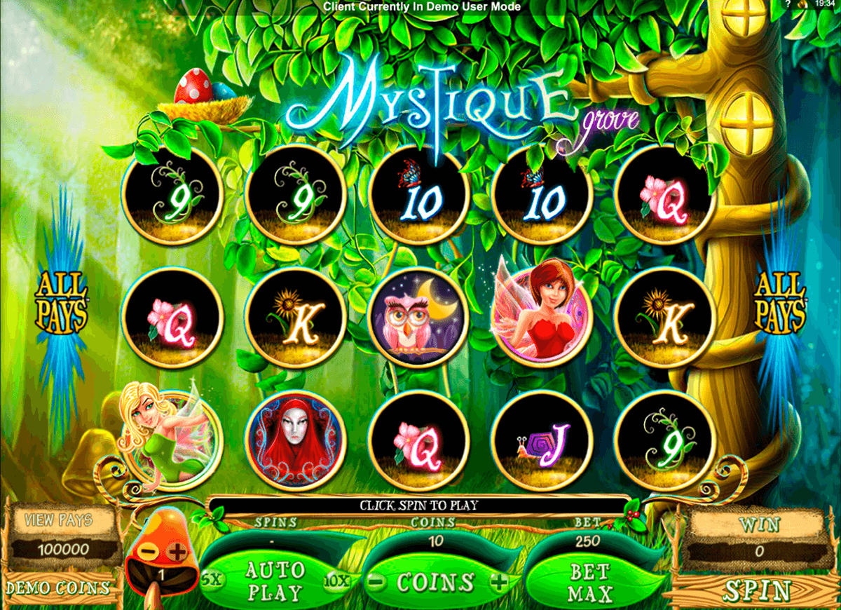 mystique grove microgaming casino slot spel