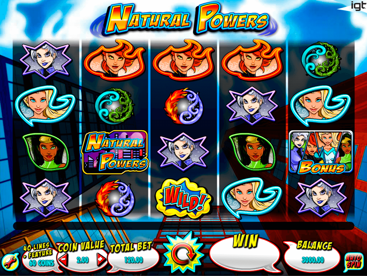 natural powers igt casino slot spel