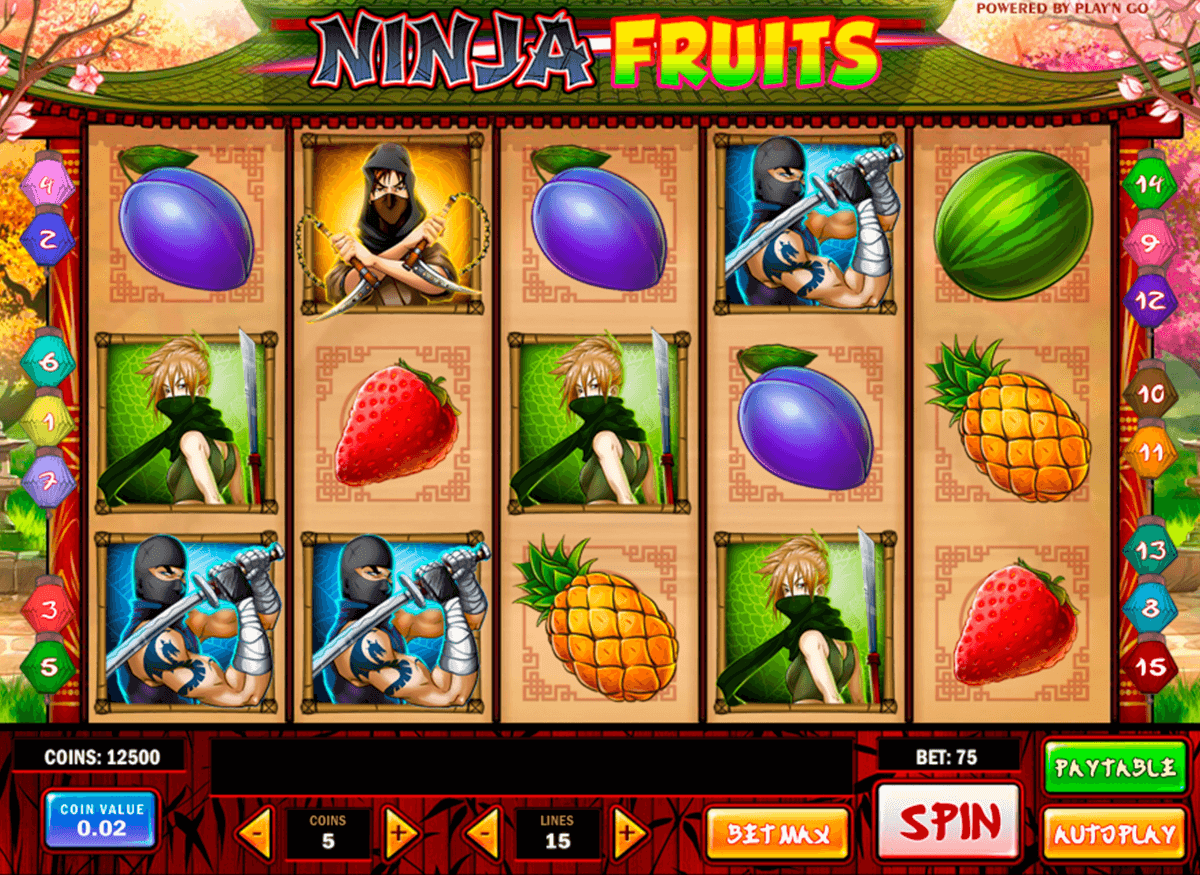 ninja fruits playn go casino slot spel