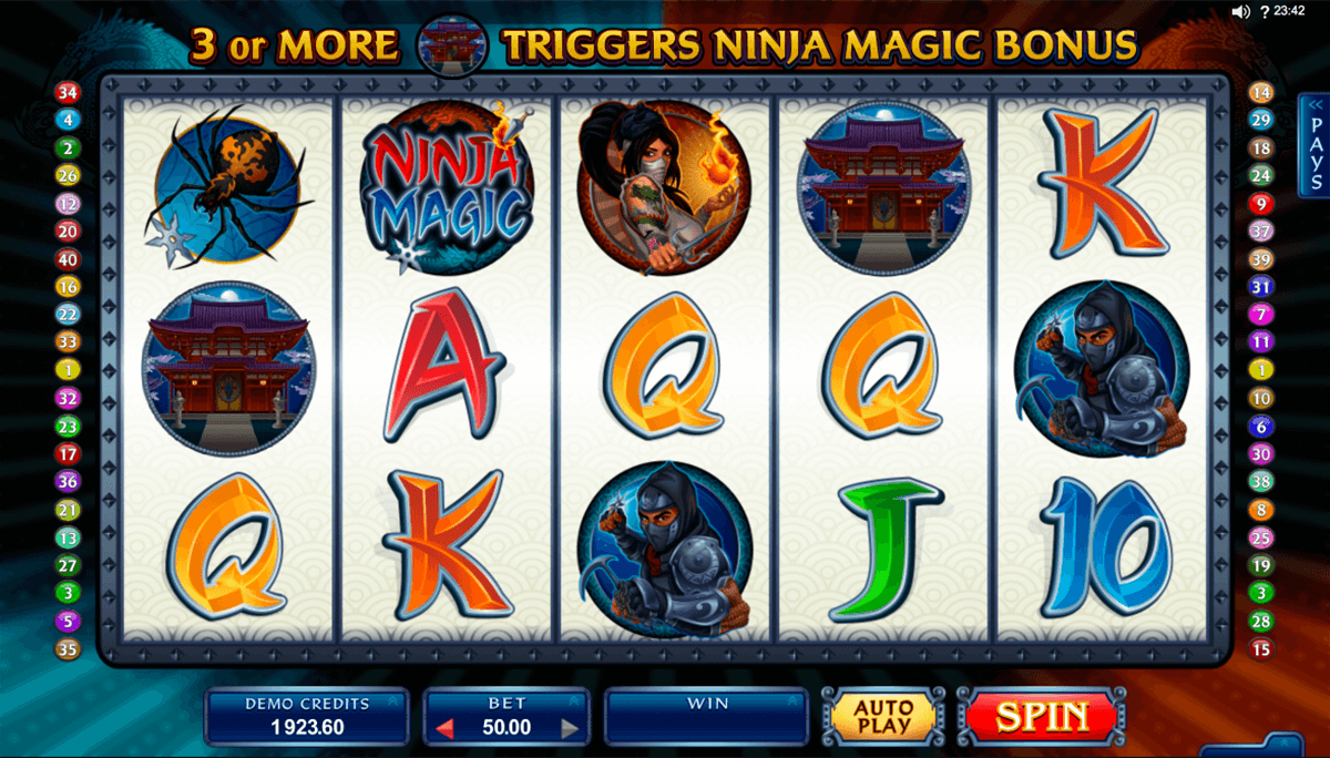 ninja magic microgaming casino slot spel