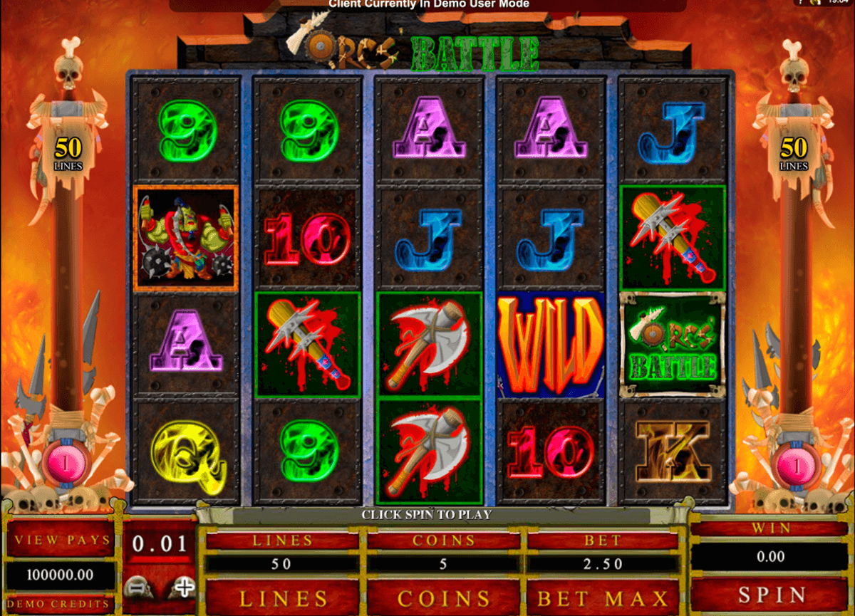 orcs battle microgaming casino slot spel