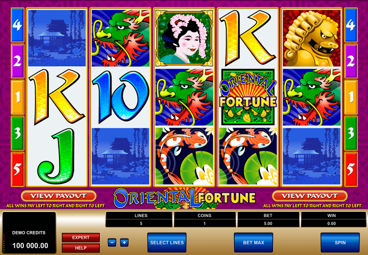 oriental fortune microgaming casino slot spel