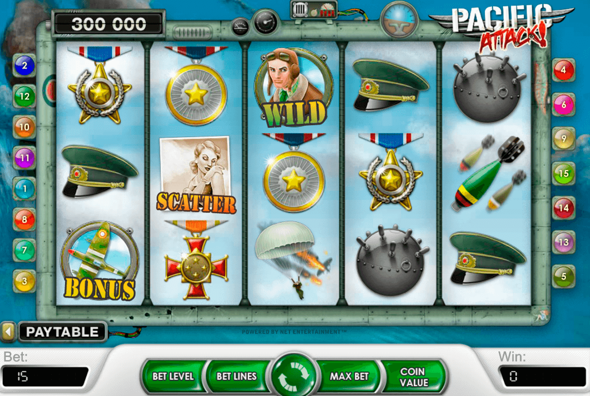 pacific attack netent casino slot spel