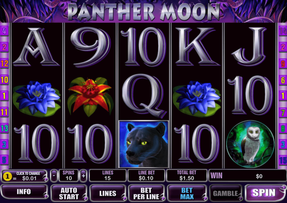 panther moon playtech casino slot spel