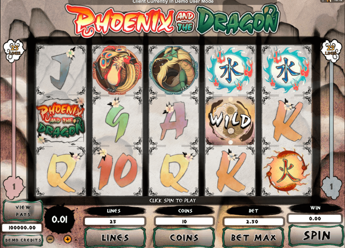 phoenix and the dragon microgaming casino slot spel