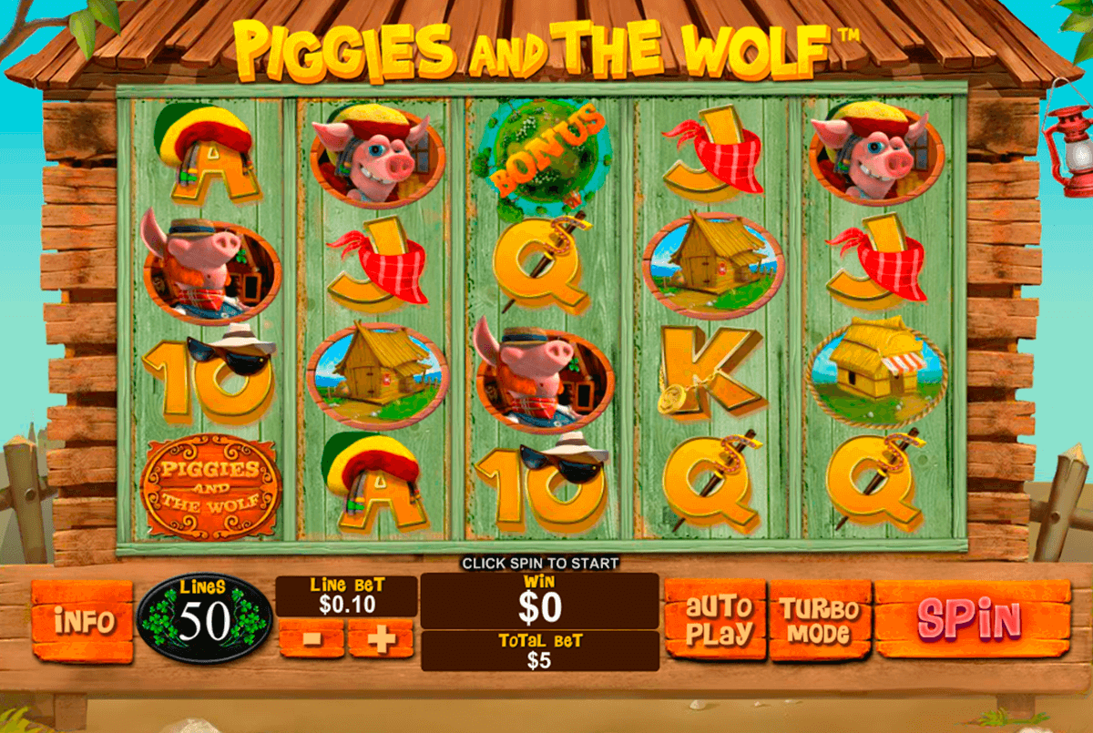 piggies and the wolf playtech casino slot spel