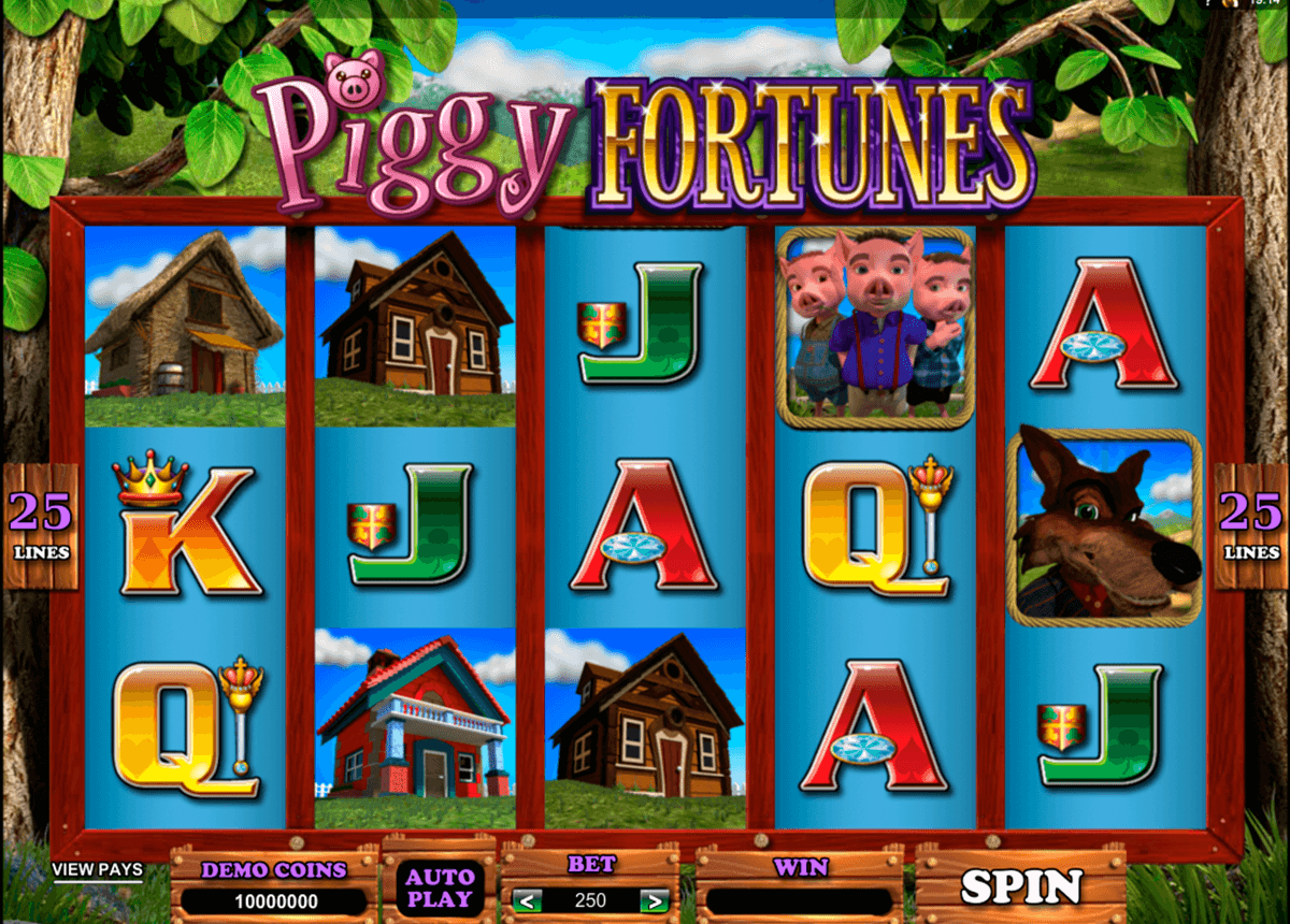 piggy fortunes microgaming casino slot spel