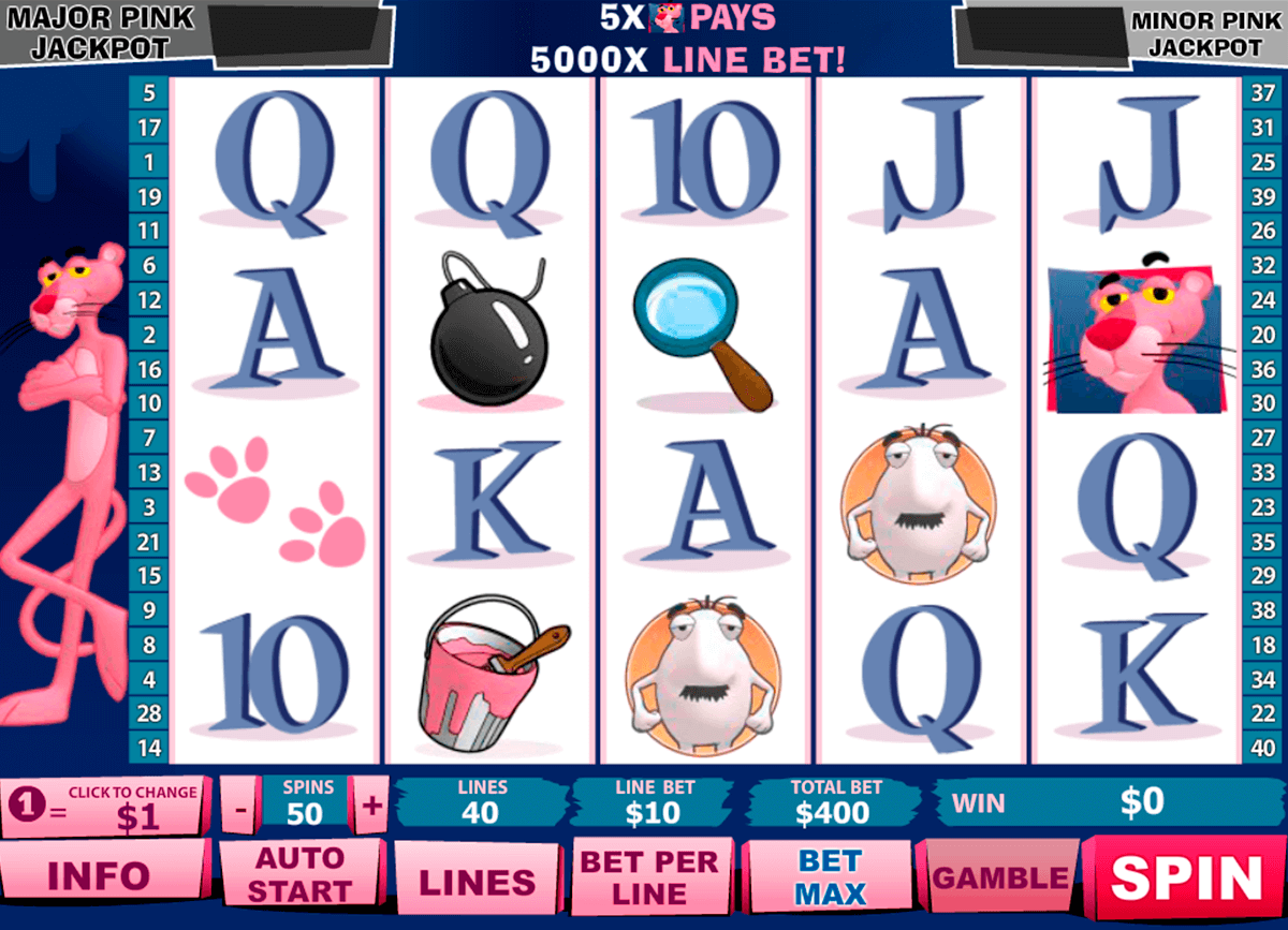 pink panther playtech casino slot spel