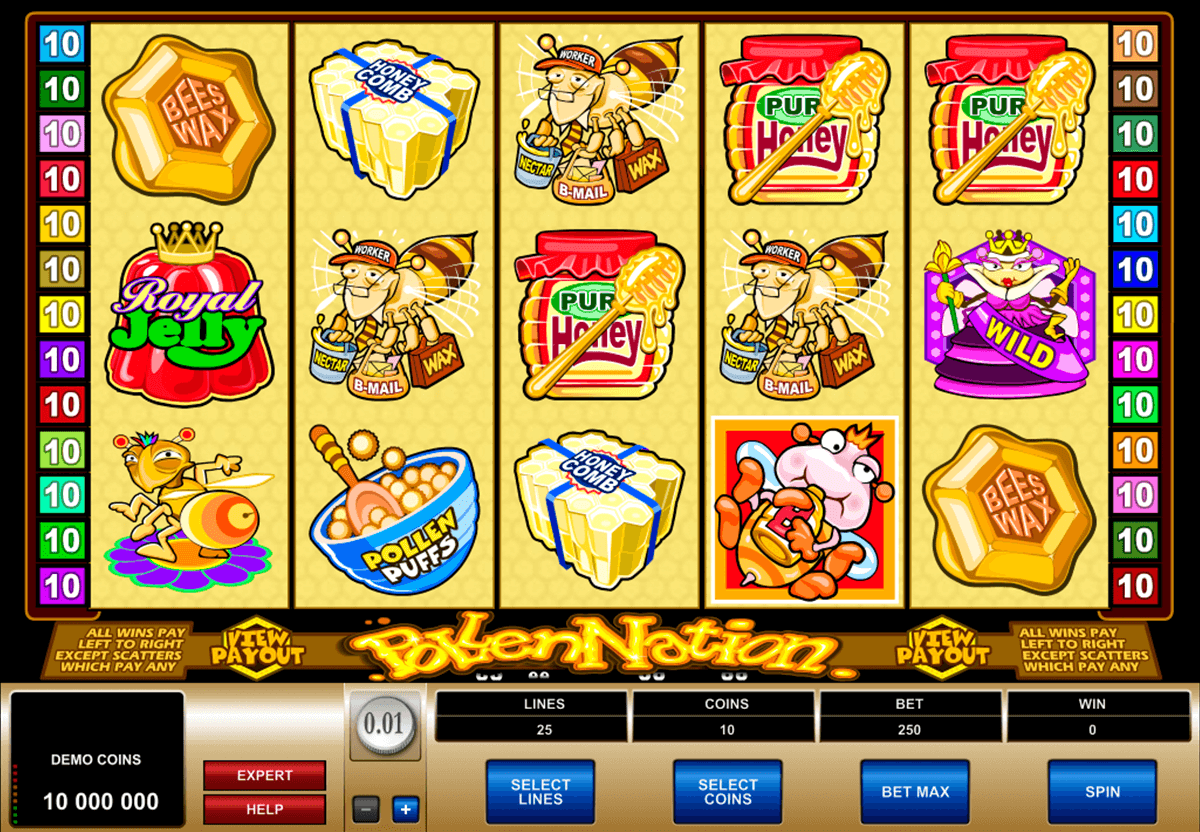 pollen nation microgaming casino slot spel