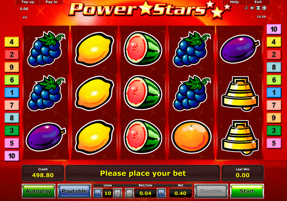 power stars novomatic casino slot spel