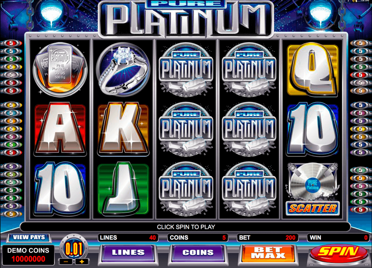 pure platinum microgaming casino slot spel