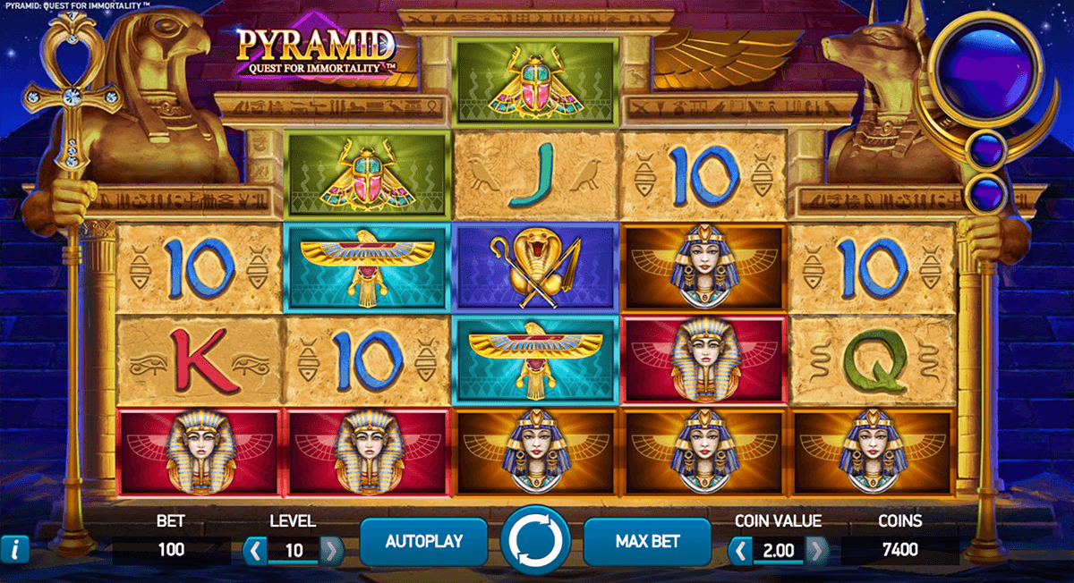 pyramid quest for immortality netent casino slot spel