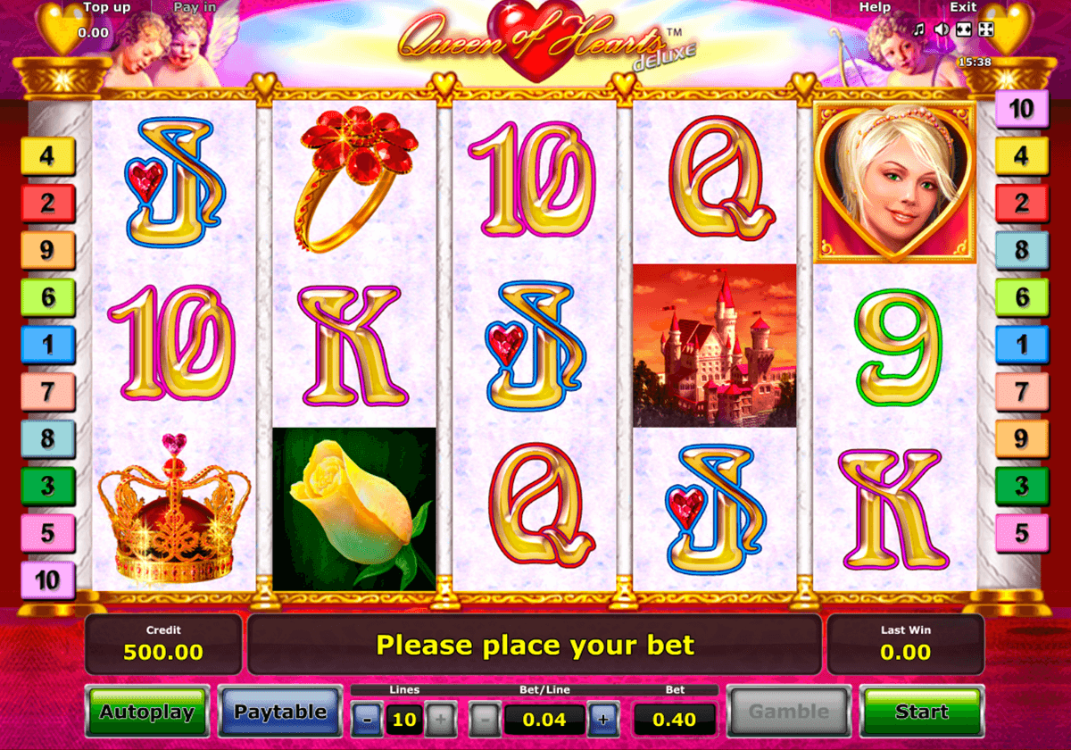 queen of hearts deluxe novomatic casino slot spel