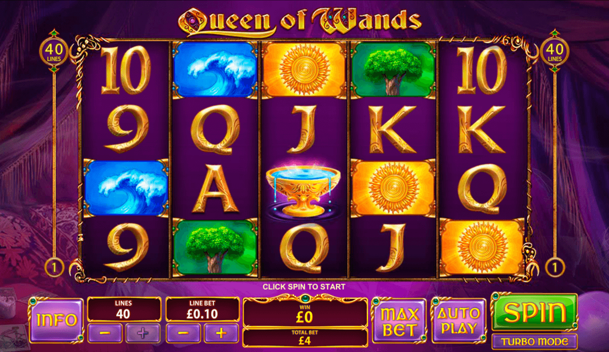 queen of wands playtech casino slot spel