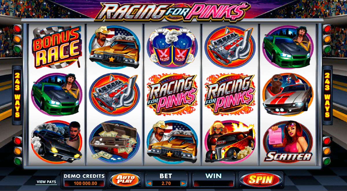 racing for pinks microgaming casino slot spel