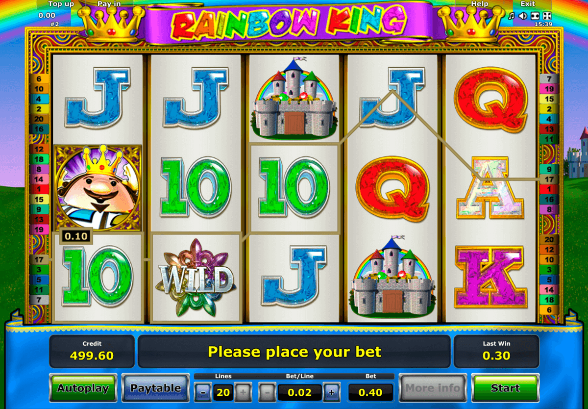 rainbow king novomatic casino slot spel