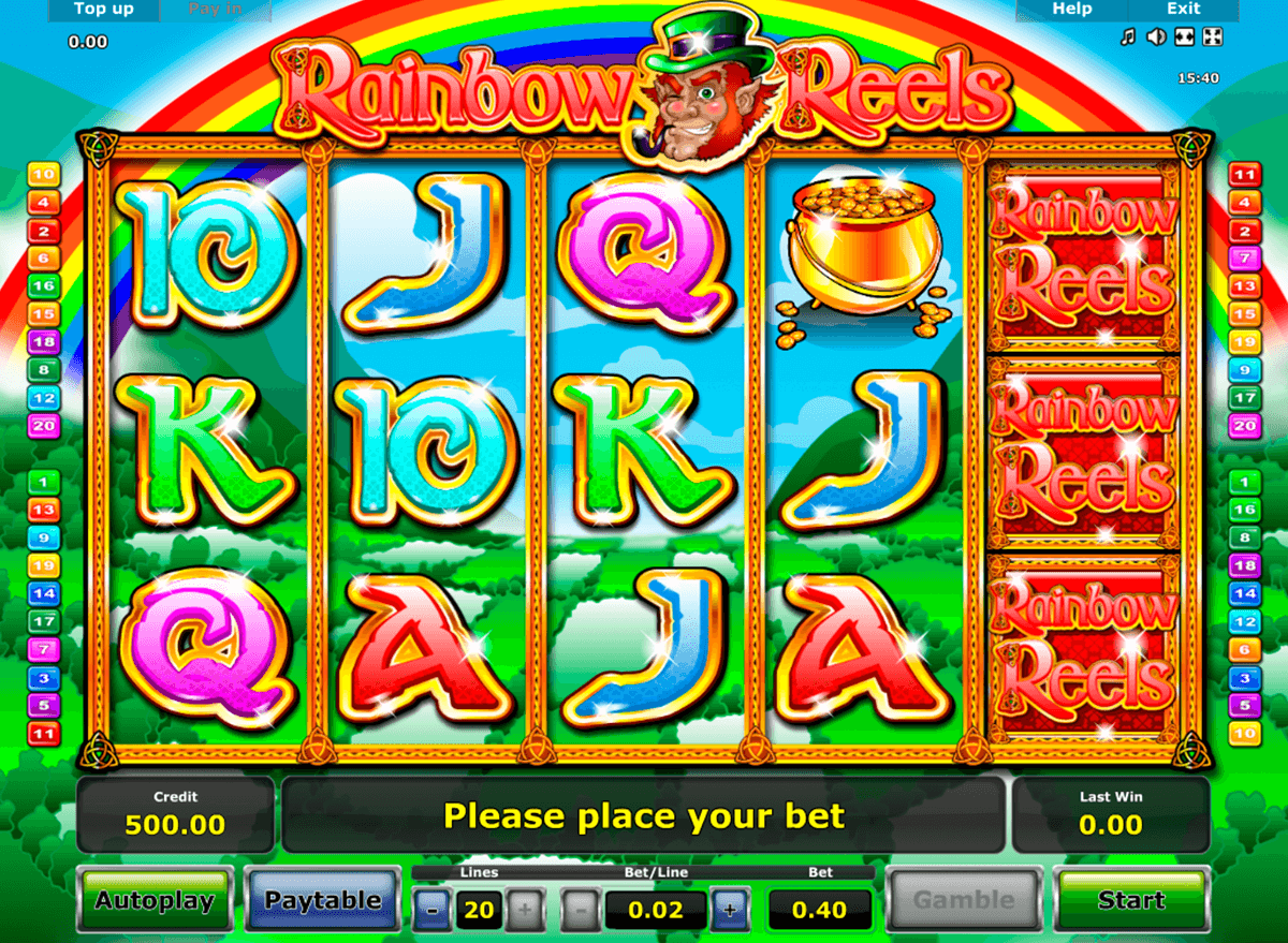 rainbow reels novomatic casino slot spel