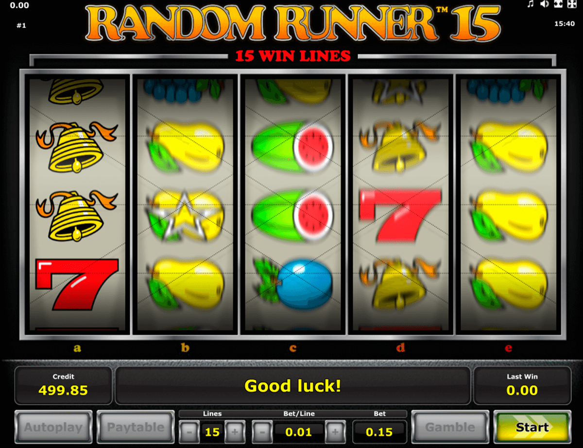 random runner 15 novomatic casino slot spel