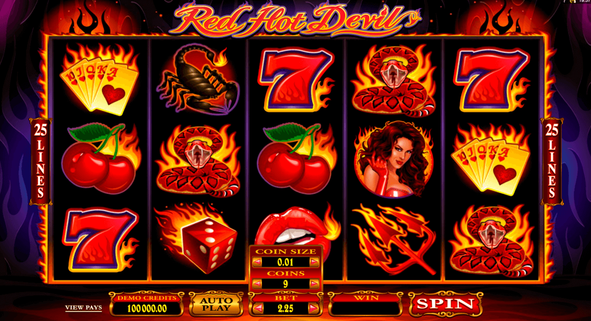 red hot devil microgaming casino slot spel