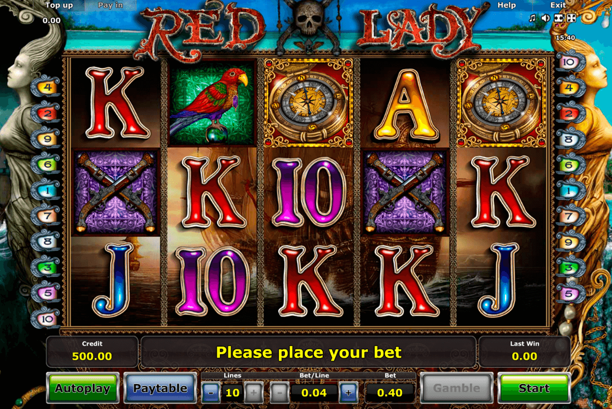 red lady novomatic casino slot spel