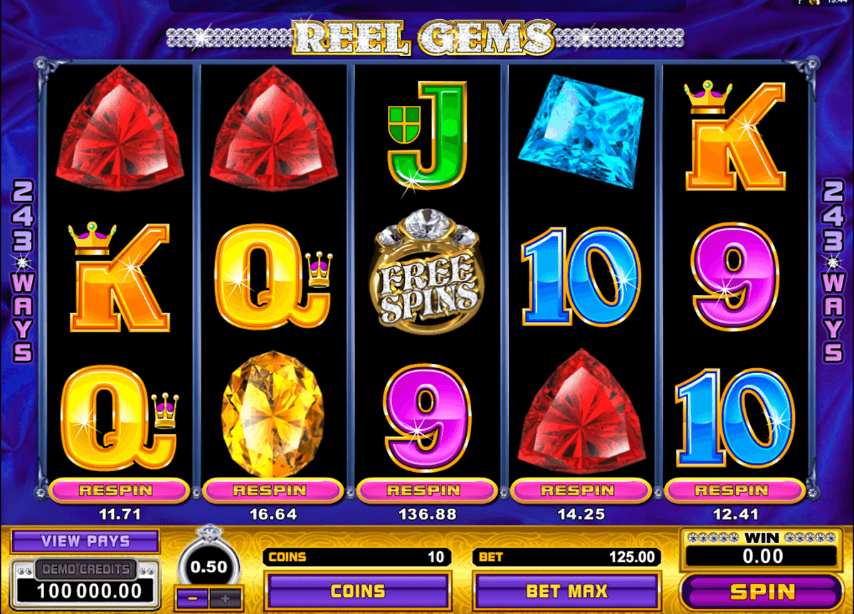 reel gems microgaming casino slot spel