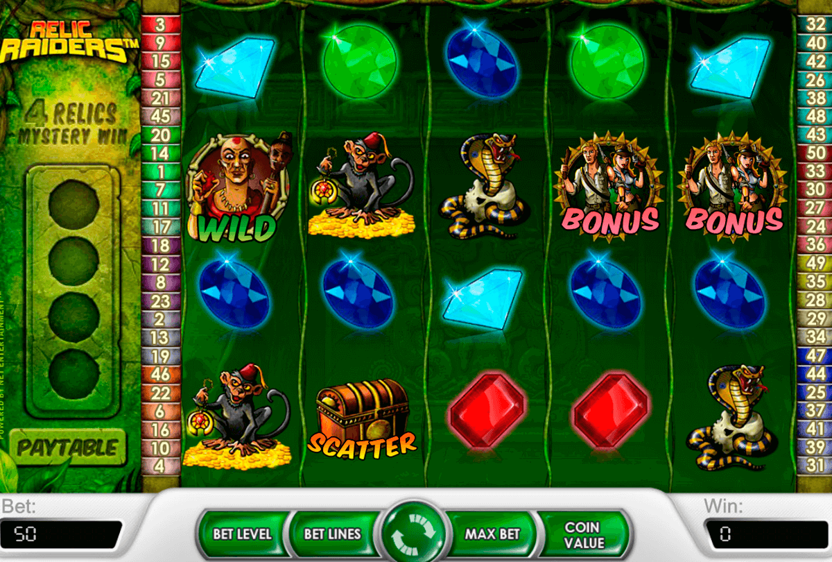 relic raiders netent casino slot spel