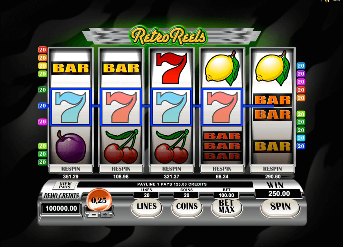 retroreels microgaming casino slot spel