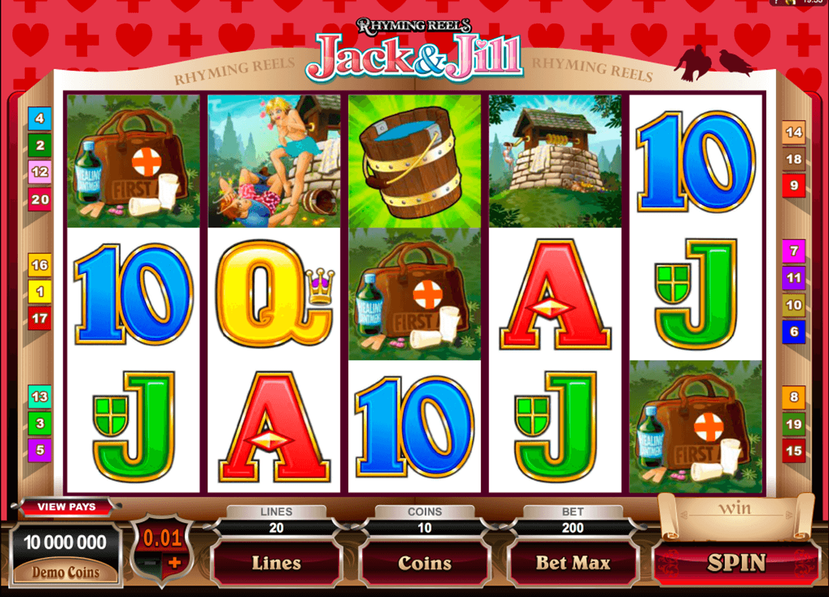 rhyming reels jack and jill microgaming casino slot spel