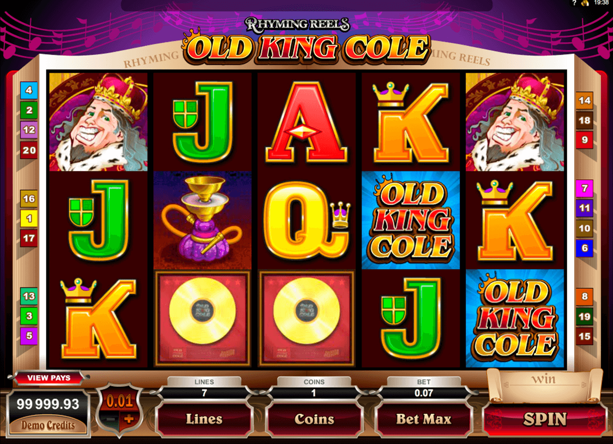 rhyming reels old king cole microgaming casino slot spel