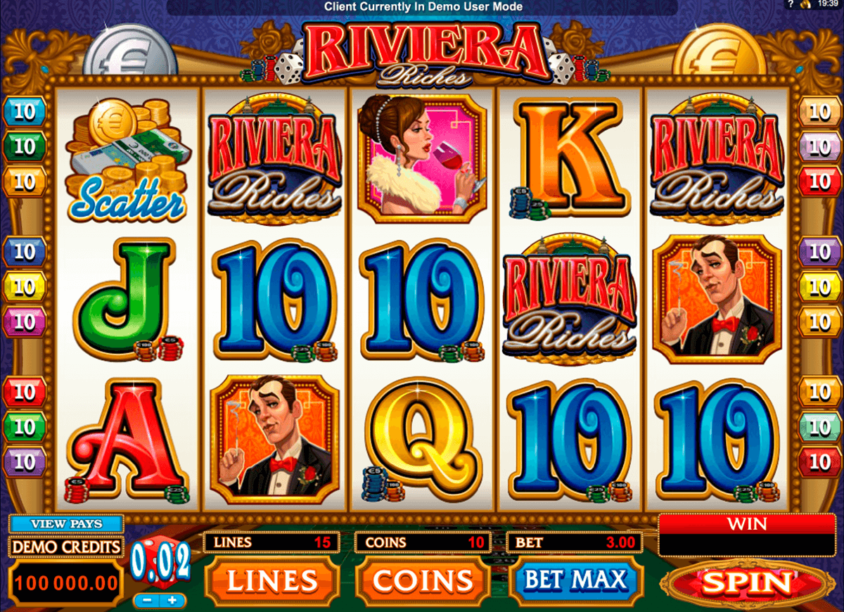 riviera riches microgaming casino slot spel