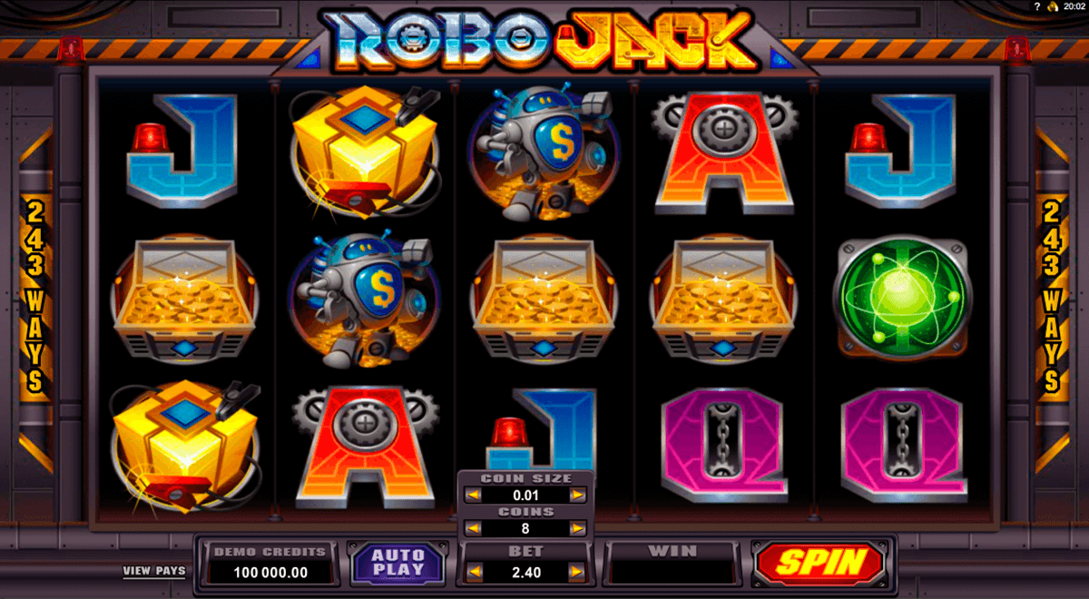 robojack microgaming casino slot spel