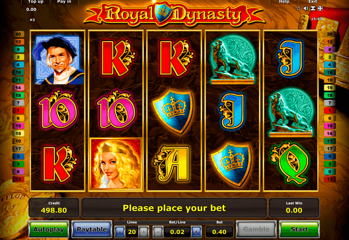 royal dynasty novomatic casino slot spel