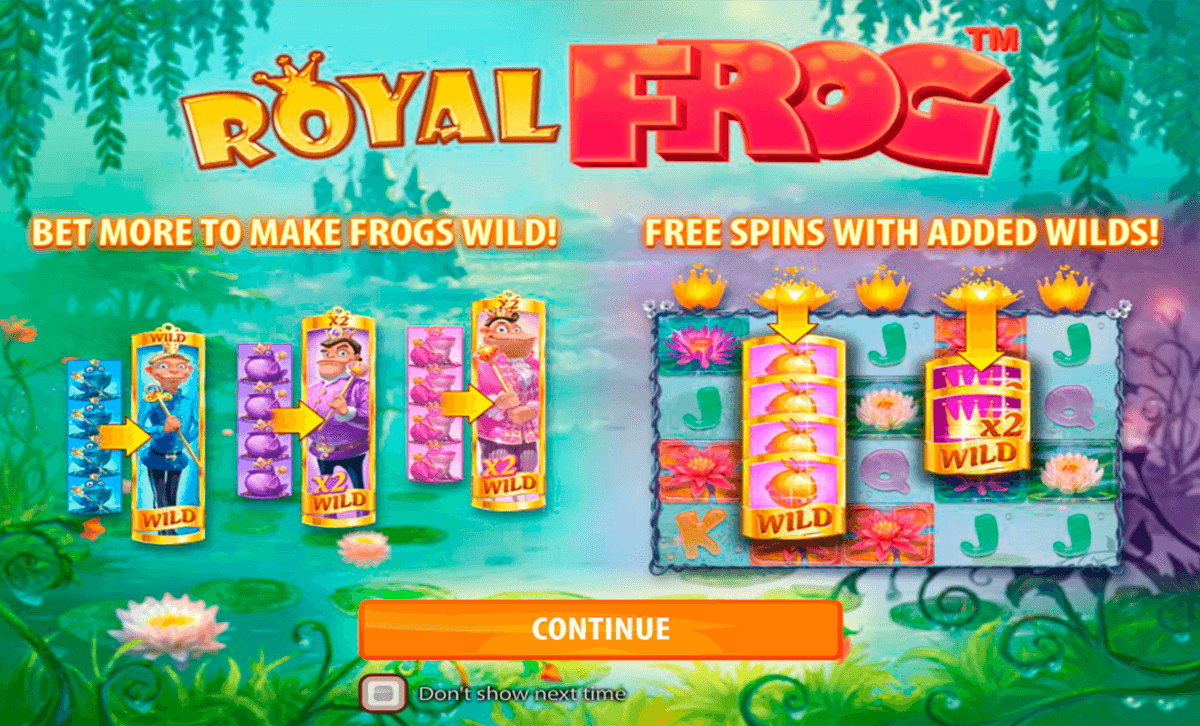 royal frog quickspin casino slot spel