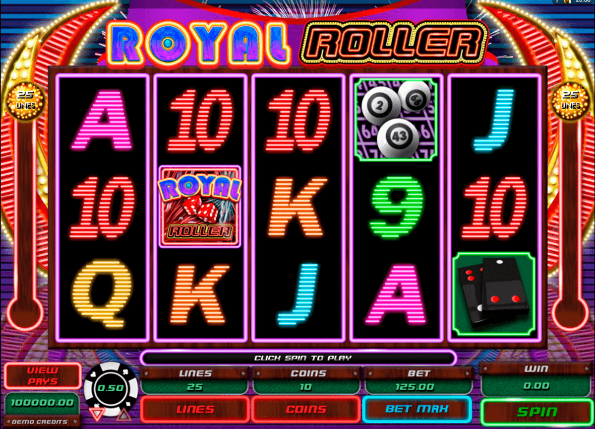 royal roller microgaming casino slot spel