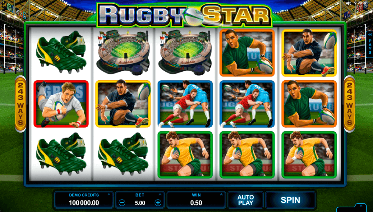 rugby star microgaming casino slot spel