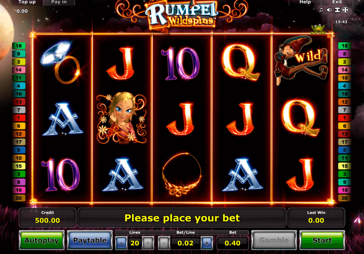 rumpel wildspins novomatic casino slot spel