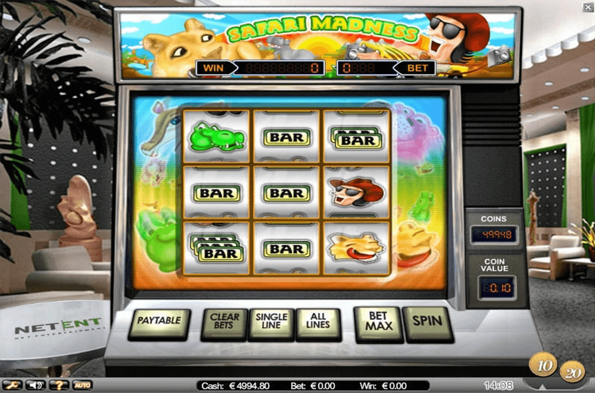 safari madness netent casino slot spel