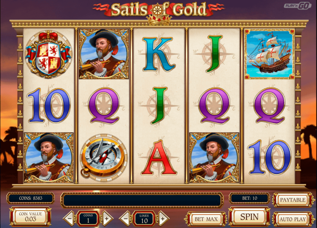 sails of gold playn go casino slot spel