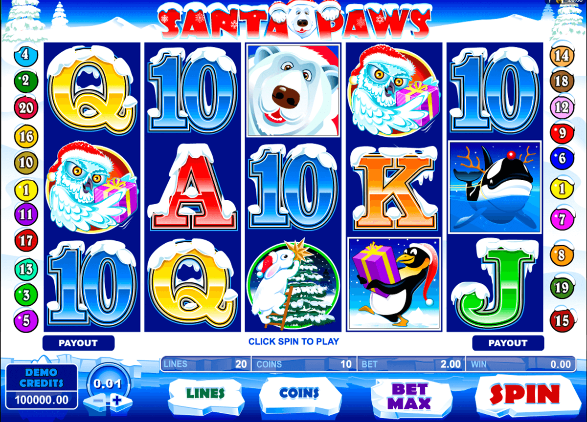 santa paws microgaming casino slot spel